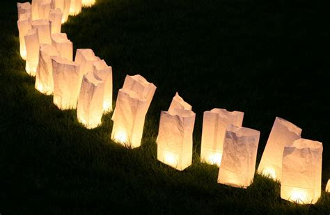 How To Make Paper Luminaries - candles in brown paper bags images