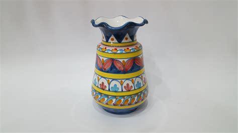 vasi portafiori vaso portafiori arte in ceramica vietrese