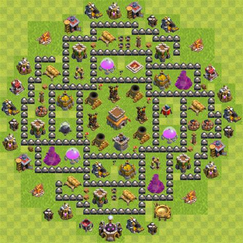 clash of clan 8 town hall war base town hall 8 base layout clash of clans