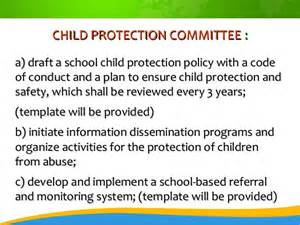 Child Protection Policy Template by Child Protection Policy