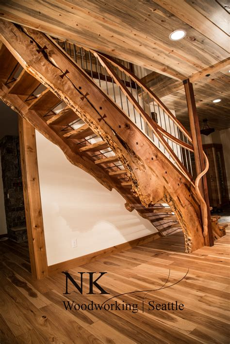 amazing woodworking quot side quot staircase designed made by nk woodworking