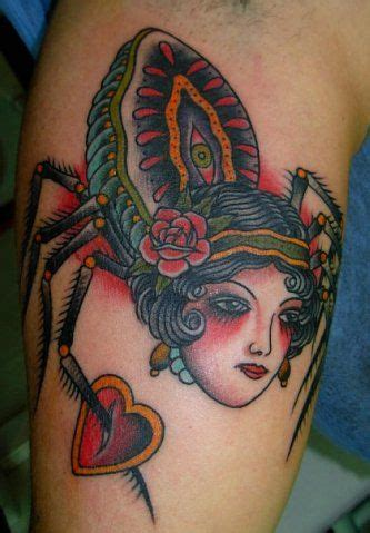 spider face tattoo ink it up trad tattoos spider with by