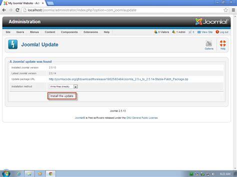 tutorial website joomla 2 5 how to update joomla 2 5 x to latest version joomtut