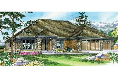 Prairie Style by Prairie Style House Plans Creekstone 30 708 Associated