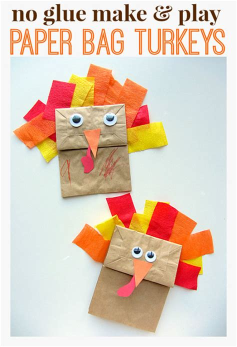 paper bag turkey crafts turkey crafts the ultimate thanksgiving collection for
