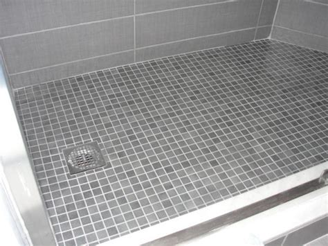 Shower Pitch by Walk In Shower Drain Or Pitch Problem Ceramic Tile