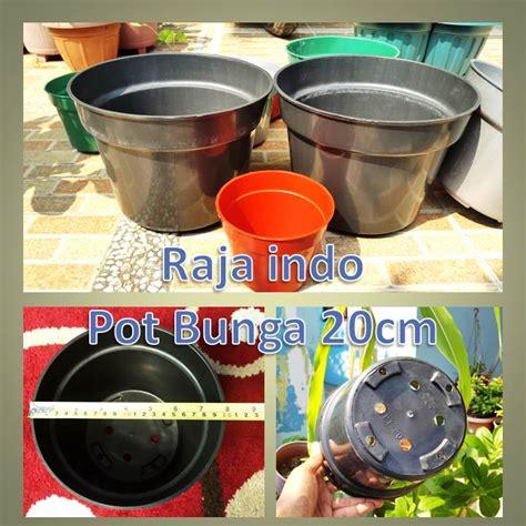 Pot Plastik 10 Cm Dan Tatakan jual pot bunga 20cm pot tanaman plastik ukuran diameter 20 cm harga grosir raja indo
