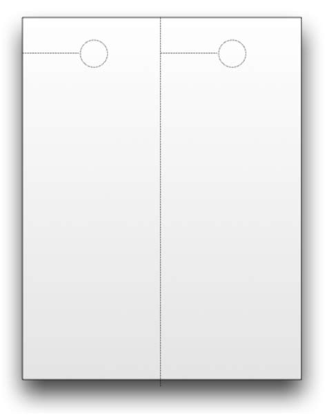 4 25 x 11 door hanger template blank door hangers custom print doorhangers