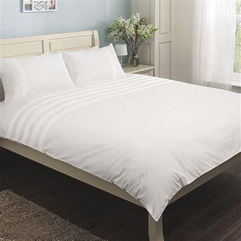 white pintuck comforter george home white pintuck cuff duvet set 180 thread count
