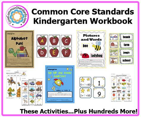 Common Standards Worksheets by Kindergarten Common Workbook Usb