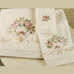 embroidered bath towel rosefan embroidered bath towels