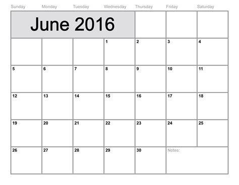 2016 printable calendar template june 2016 printable calendar blank templates printable