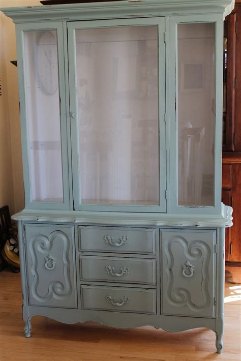 diy chalk painted china cabinet great on homemade chalk paint i ll have to try