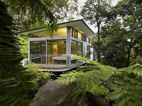 eco homes sustainable tree houses home and gardening invisible tree house sydney glass tree house small glass