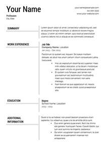A Resume Template by Free Resume Templates Resume Cv