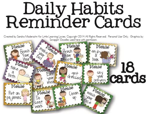 printable daily schedule cards free daily routine cards for kids routine learning and free