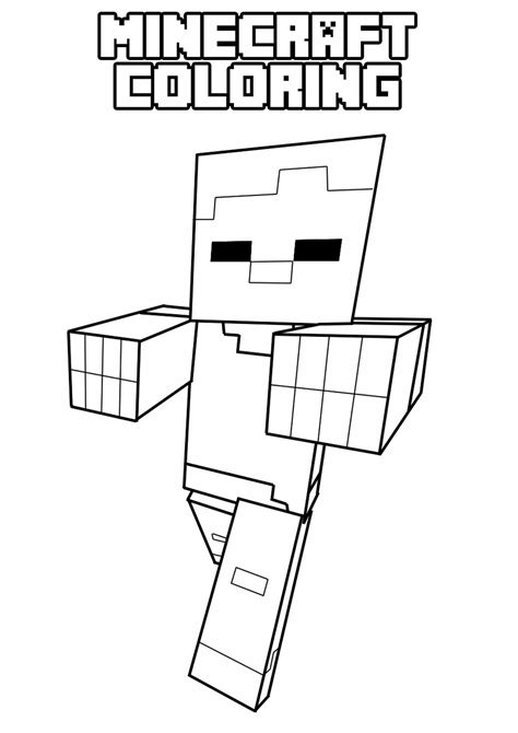 minecraft coloring pages printable free printable minecraft coloring pages free