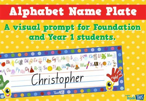 printable alphabet name plates alphabet name plate editable printable teacher