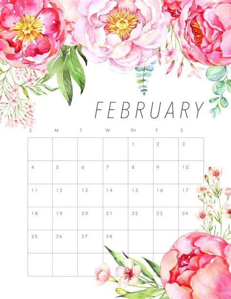 printable beautiful flowers free printable 2018 floral calendar beautiful flowers