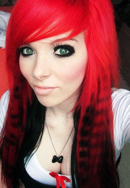emo hairstyles red and black 17 best images about emo and scene hair on pinterest her