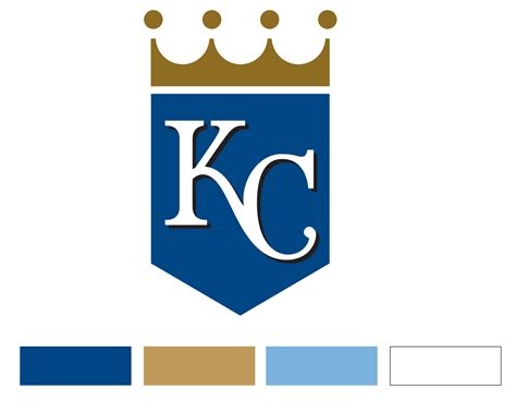 kc colors kansas city royals logo kansas city royals symbol