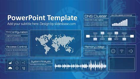 Technology Screen Powerpoint Template Slidesbase Technology Templates