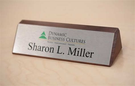 solid wood desk signs walnut desk signs wooden office