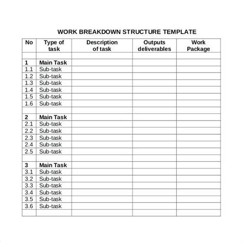 dictionary template for google docs wbs template excel template work breakdown schedule