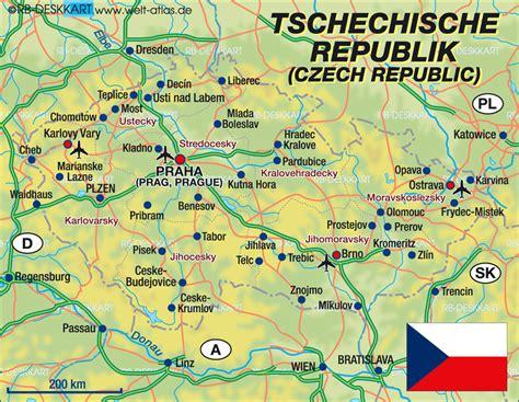 Motorradfahren Czech Republic by Map Of Czech Republic Country Welt Atlas De