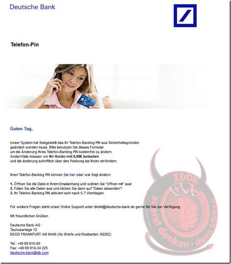 deutsche bank e mail adresse deutsche bank ag telefon pin internetbetr 252 ger versenden