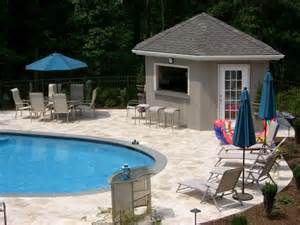 Small Pool House Wallpaper Free Pool House Designdesktop Wallpaper