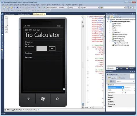 design application visual studio using visual studio to build vb windows phone applications