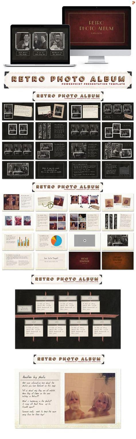 Creativemarket Retro Photo Album Ppt Template 283433 Heroturko Photo Album Powerpoint Template