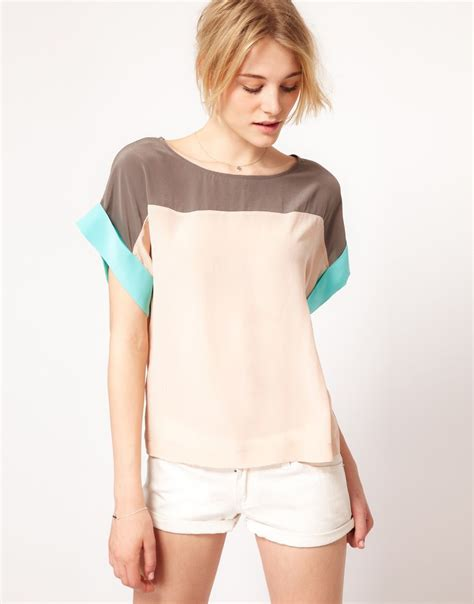 color block top in pretty colors by