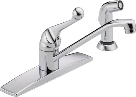 delta classic single handle kitchen faucet 2018 delta faucet 400lf wf classic single handle kitchen faucet with spray chrome fixtures and beyond