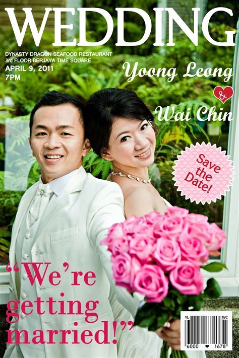 Magazine Wedding Invitation