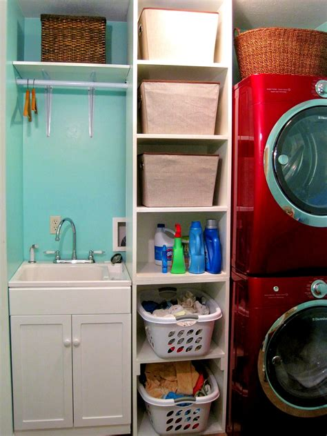 Laundry Room Shelf With Hanging Rod - laundry room shelving ideas for small spaces you need to see homesfeed