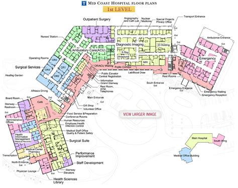 Site Plan Drawing Online mid coast hospital find us floor plans level 1