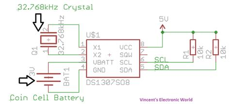 ds1307 circuit diagram digital clock with arduino and ds1307