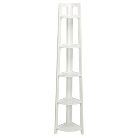 White Wood Corner Shelf by Buy Sheringham Bathroom 5 Tier Corner Shelving Unit White