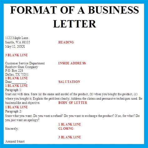 Standard Block Style Business Letter Format Best Photos Of Sle Business Letter Format Sle Business Letter Format Exle Business
