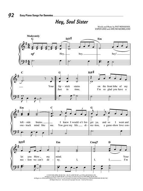 Easy Piano Songs For Dummies Sheet Music (SKU: 00121623