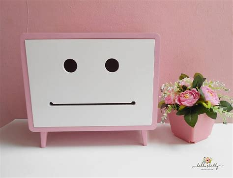 Jual Aneka Tissue Box Macaron Tedd Pink Hello Shabby