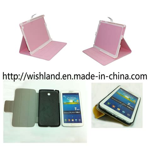 Samsung Tab 3 Made In sell pu leather cover for 2 samsung galaxy tab 3 cover leather cover cellphone cover