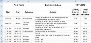 dave s tech docs creating daily activity logs through ms