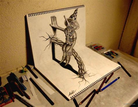How To Make 3d Sketch On Paper - 20 beautiful 3d pencil drawings and 3d works part 2