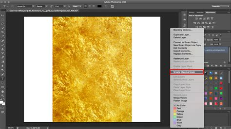 gold color photoshop how to create a gold foil effect in photoshop clipping