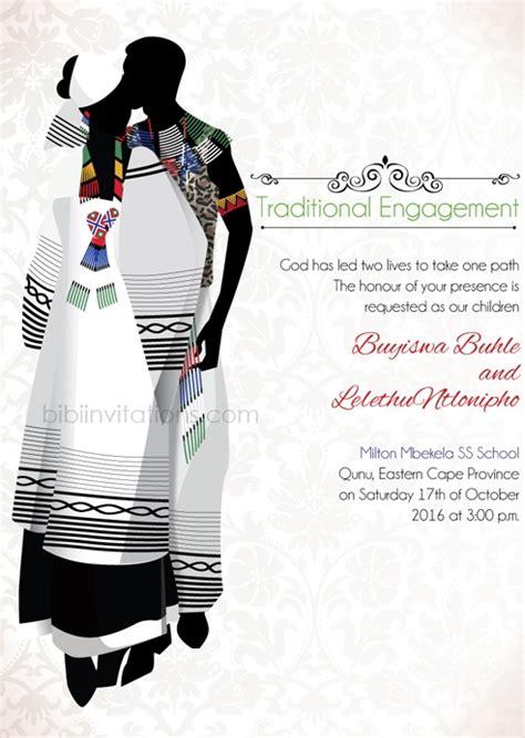 traditional wedding invitation cards templates bathandwa xhosa tradtional wedding invitation