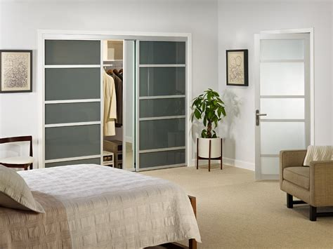 glass door designs for bedroom modern wardrobe design with smoked glass sliding doors for