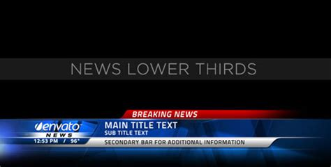 After Effects News Ticker Template For Business After Effects News Ticker Template